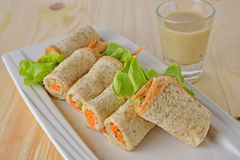 Sandwich tuna roll with Mayonnaise and sesame sauce Stock Images
