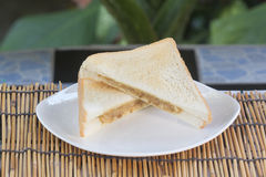 Sandwich tuna spraed Stock Images