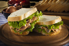 Sandwich with turkey Royalty Free Stock Image