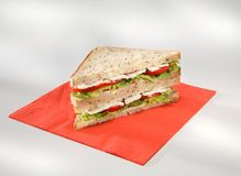 Sandwich turkey Royalty Free Stock Photography