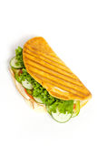 Sandwich. With turkey, tomato, cucumber stock photography