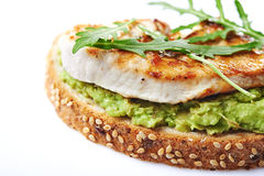 Sandwich with turky and avocado Stock Image