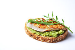 Sandwich with turky and avocado Royalty Free Stock Images