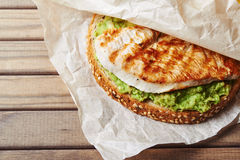 Sandwich with turky and avocado Stock Images
