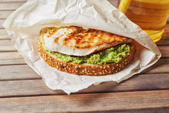 Sandwich with turky and avocado Stock Photos