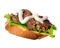 Sandwich with two meat patties Royalty Free Stock Image