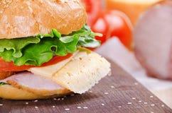 Sandwich und Bestandteile Nahrung Neues u. gesundes Lebensmittel Konzept Lizenzfreie Stockbilder