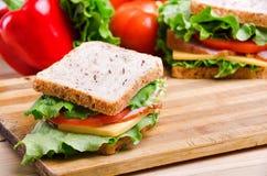Sandwich und Gemüse Nahrung Neues u. gesundes Lebensmittel Konzept Lizenzfreies Stockfoto