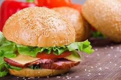 Sandwich und Gemüse Nahrung Neues u. gesundes Lebensmittel Konzept Stockfotografie