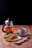Sandwich und Tee Stockfoto