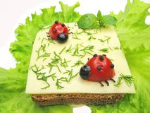 Sandwich végétal créateur avec du fromage photographie stock