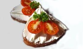 Sandwich végétarien avec du fromage Images libres de droits