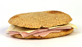 Sandwich van hamkaas Royalty-vrije Stock Afbeelding