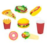 Sandwich van het voedsel de snelle pictogram Stock Fotografie