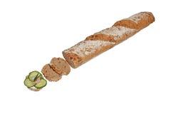 Sandwich van kruidig brood Stock Afbeeldingen