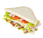 Sandwich with various healthy ingredients Royalty Free Stock Photo