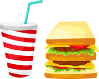 Sandwich vector Royalty Free Stock Image