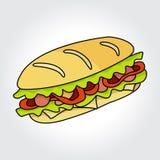 Sandwich vector icon. Stock Photos