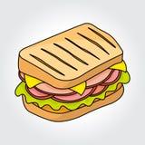 Sandwich vector icon. Royalty Free Stock Photo