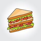 Sandwich vector icon. Stock Photography