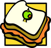 sandwich vector illustration Royalty Free Stock Image