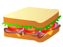 Sandwich Vector Illustration Royalty Free Stock Photography