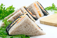 Sandwich and vegatable food for breakfast. Sandwich for breakfast food delicious Royalty Free Stock Image
