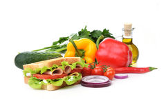 Sandwich  with vegetable Royalty Free Stock Photos