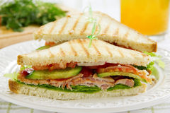 Sandwich with vegetable Stock Images