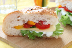 Sandwich with vegetables and cheese Royalty Free Stock Photography