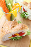 Sandwich with vegetables and cheese Royalty Free Stock Photos
