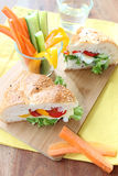Sandwich with vegetables and cheese Royalty Free Stock Images