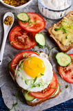 Sandwich with vegetables Stock Image