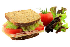Sandwich and Vegetables Stock Photos