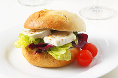 Sandwich vegetariano Immagine Stock Libera da Diritti