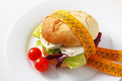 Sandwich vegetariano Immagine Stock
