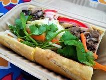 Sandwich vietnamien à Banh MI de porc Photographie stock libre de droits