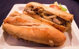 Sandwich vietnamien du plat blanc photos libres de droits