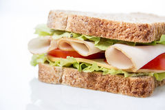 Sandwich on white Royalty Free Stock Photo