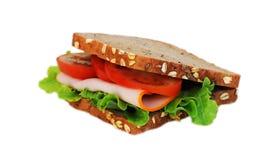 Sandwich on white background. Sandwich with ham isolated on white background Stock Photos
