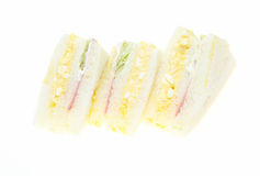Sandwich in a white background Stock Images