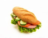 Sandwich on white Stock Photography