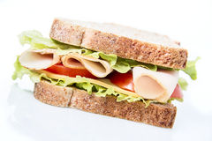 Sandwich on white Stock Image