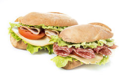 Sandwich on white royalty free stock photography