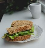 Sandwich on the windowsill Stock Image