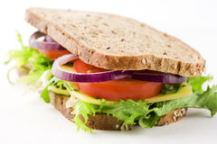 Sandwich With Cheese And Vegetables 2 Royalty Free Stock Photo