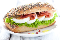 Sandwich With Ham And Egg Royalty Free Stock Images