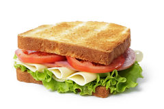 Free Sandwich With Ham, Cheese And Vegetables Stock Photo - 35012110