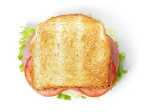 Free Sandwich With Ham, Cheese And Vegetables Stock Images - 35384054