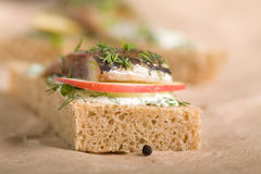 Free Sandwich With Herring Royalty Free Stock Image - 18879676